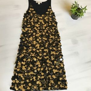 Michael Kors black and Gold sequin dress!
